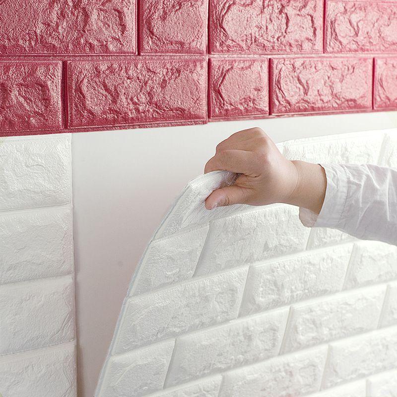 pas cher europ enne 3d stickers muraux mur de briques motif auto adh sif papier peint chambre. Black Bedroom Furniture Sets. Home Design Ideas