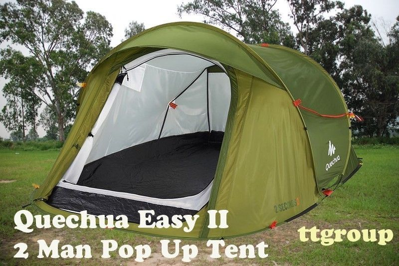 (US Warehouse) Quechua Waterproof Pop Up Camping Tent 2 Seconds Easy II, 2 Man #Quechua