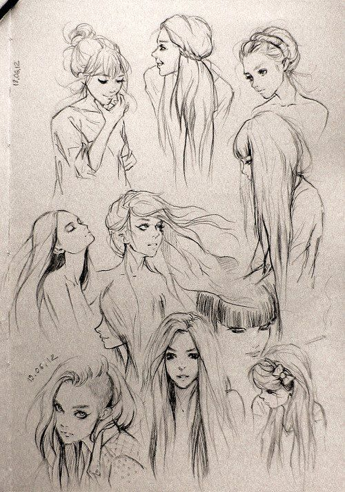 different girls poses inspiration drawings illustration art