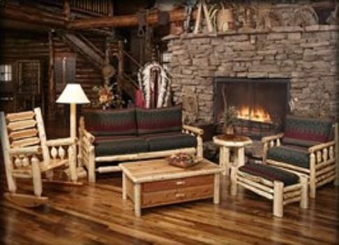 Rustic Log Cabin Living Room Furniture Couches X 351 Px