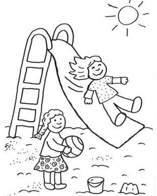 Toboggan coloriage enfants pinterest coloriage coloriage enfant et dessin - Dessin enfant a colorier ...