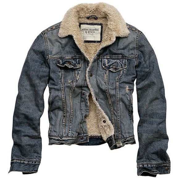 Fashion Mens Winter Jeans Jacket with Fur Collar | Denim jackets ...