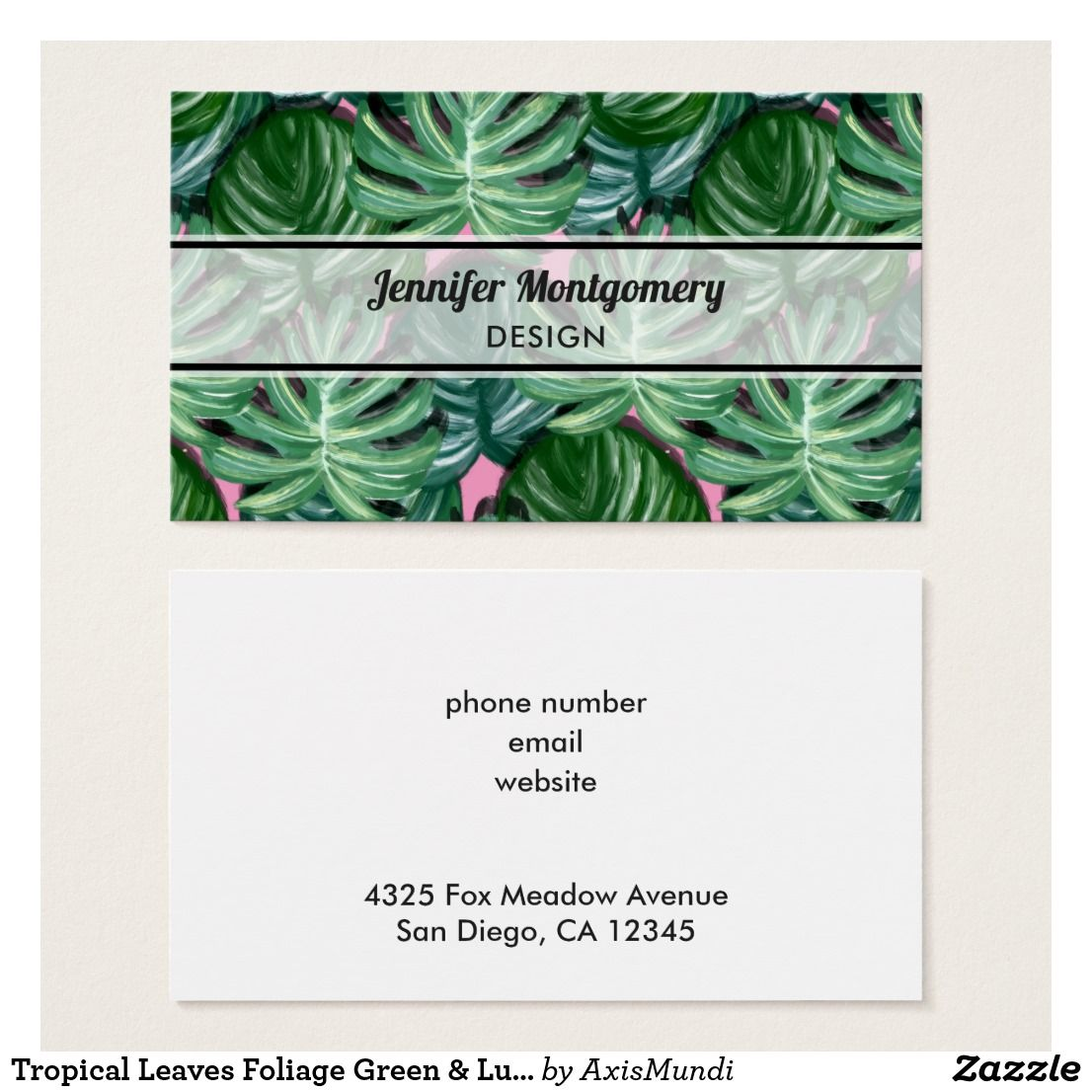 Tropical Leaves Foliage Green Lush