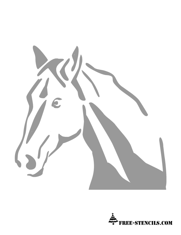 graphic relating to Horse Stencil Printable identified as cost-free printable horse experience stencil Cost-free Printable Stencils