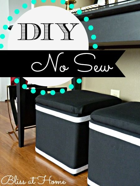 Diy no sew recovered storage cubes for those inexpensive for Storage ottoman fabric covered