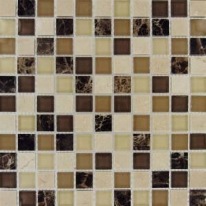 12 in. x 12 in. Alicante Blend Glass & Stone Mesh-Mounted Mosaic Tile-SMOT-SGLS-AB8MM at The Home Depot