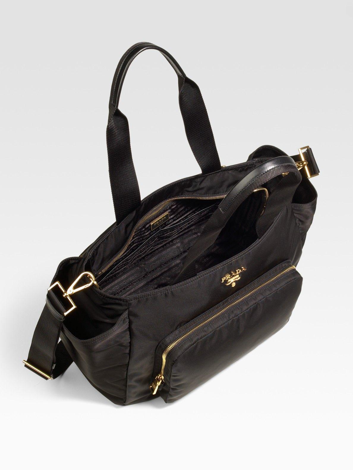 c67d7c5b6a89 Prada Nylon Baby Bag in Black