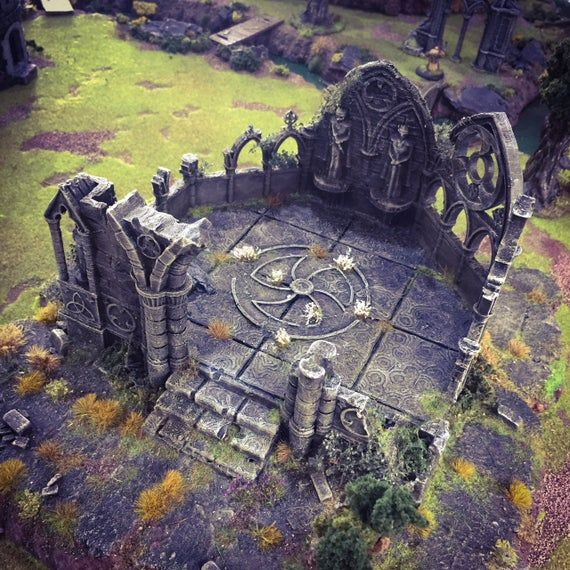 Rampage - Ruined Gothic Abbey 15mm 28mm 32mm Wargaming Terrain D&D, DnD, Pathfinder, SW Legion, Warhammer, 40k, Sigmar