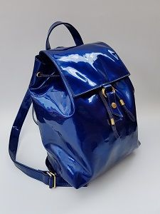 f476b2a328 MOSCHINO by Redwall Vintage Electric Blue / Royal Blue Backpack /Shoulder  bag . Italian Designer purse.
