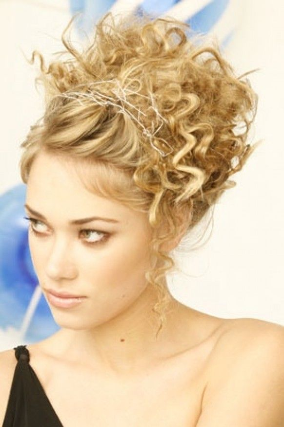 Wedding Hairstyles Tight Curl Up Do Hair Pinterest Tight
