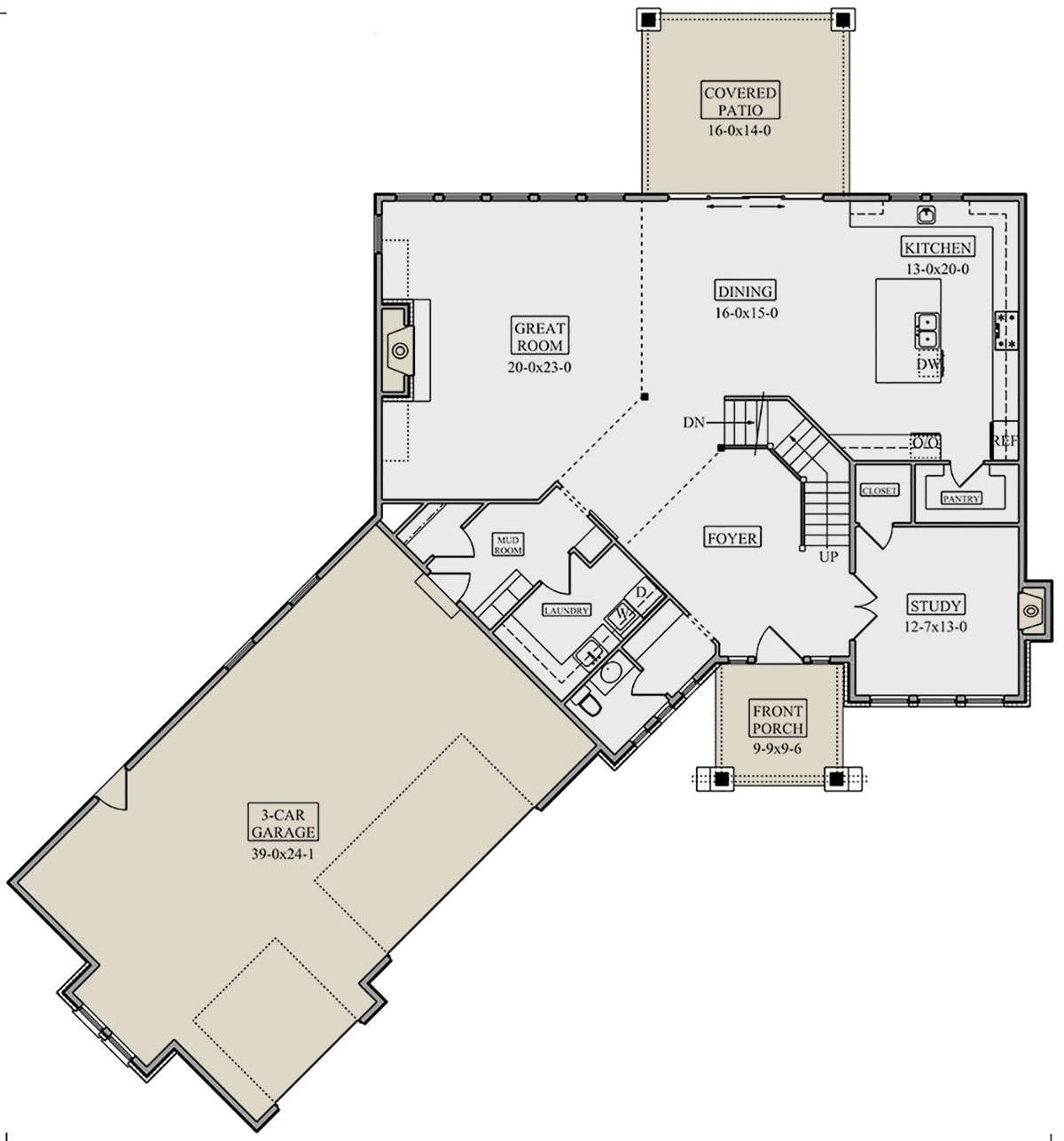 House Plan 5631 00086 Northwest Plan 3 305 Square Feet 3 5 Bedrooms 2 5 Bathrooms In 2021 House Plans How To Plan Florida House Plans