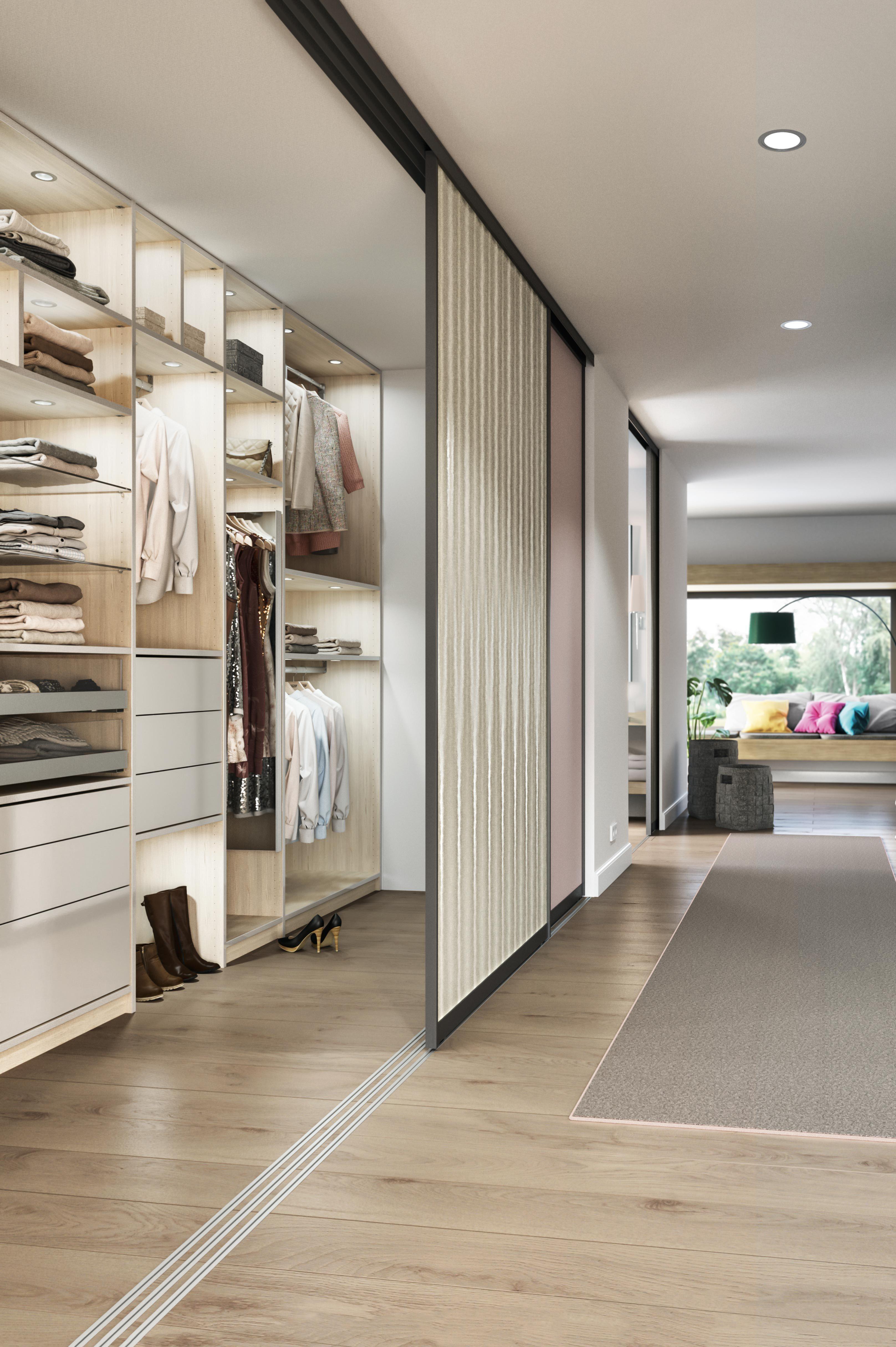 begehbare ankleide mit schiebet ren zum verschlie en von cabinet tolle einrichtungsideen. Black Bedroom Furniture Sets. Home Design Ideas