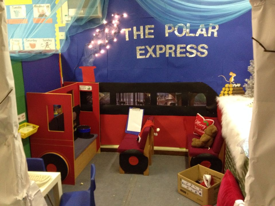 My Polar Express Christmas Role Play Area Classroom
