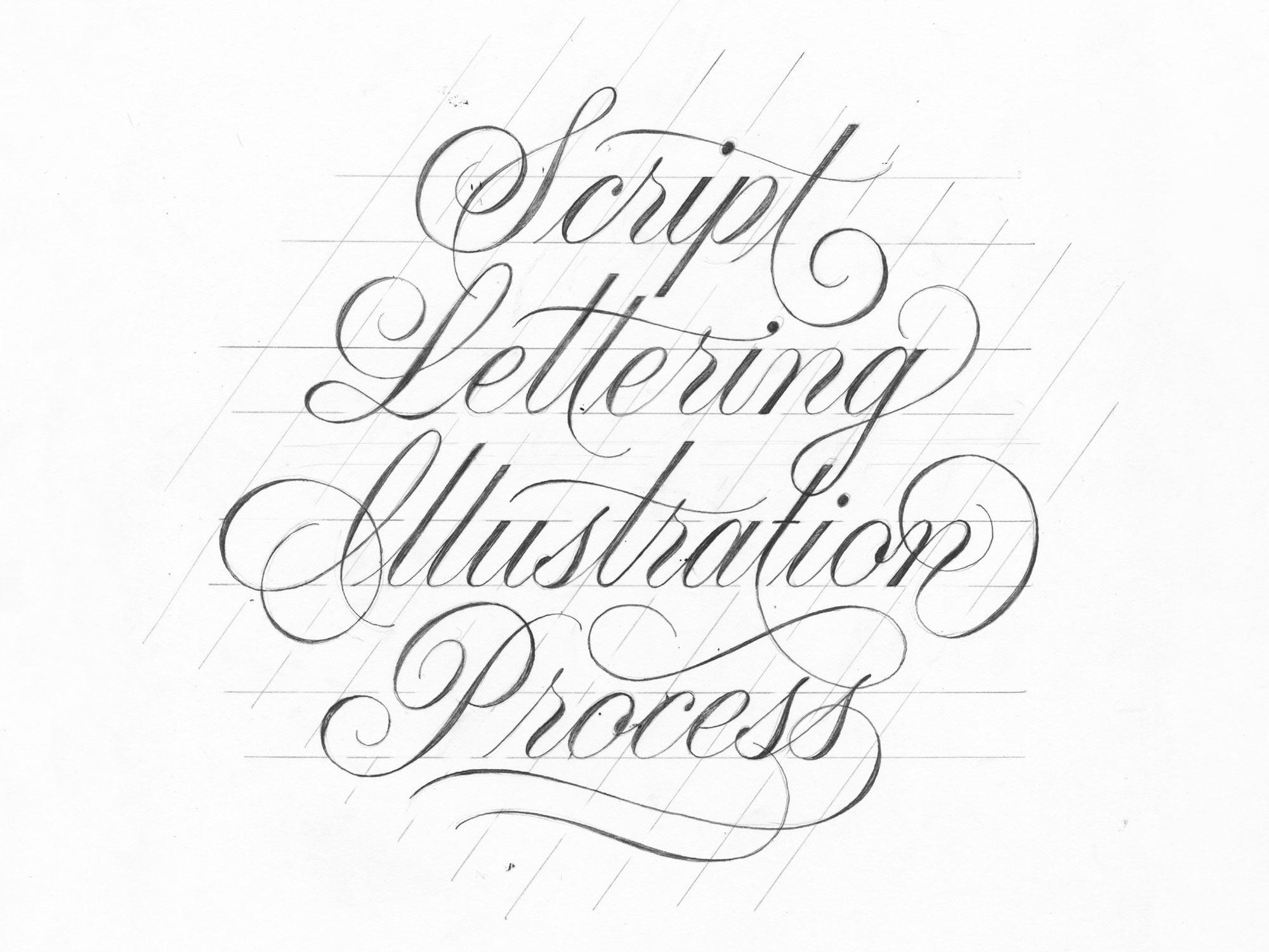 Script Lettering Illustration Process