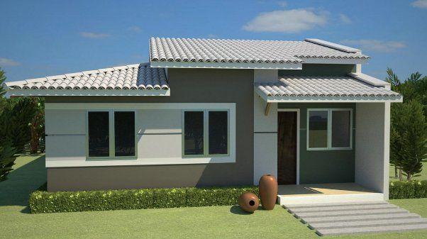 Fachada casa pequea simple y bonito Case moderne Pinterest