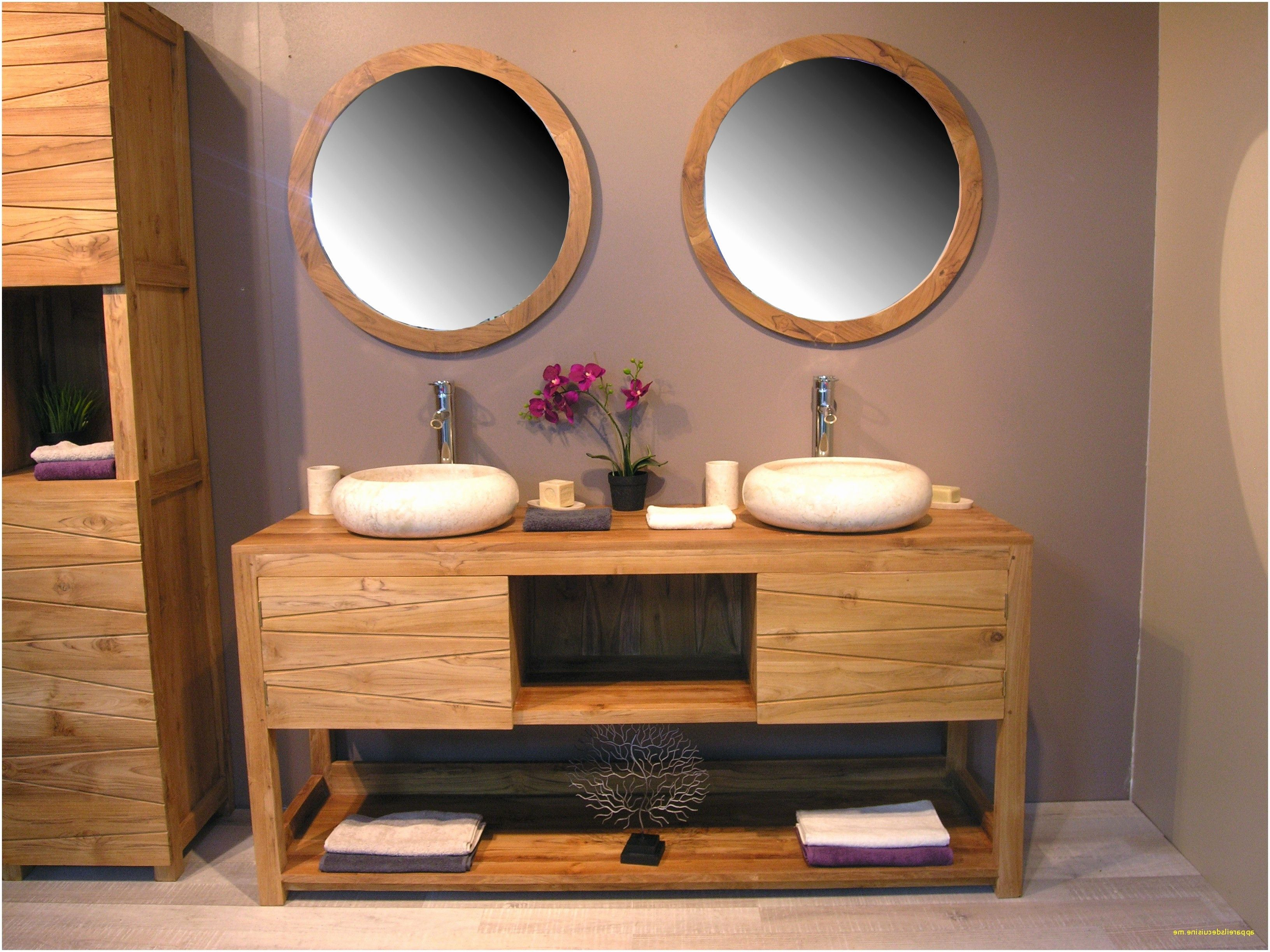 28 Inspirant Meuble Sous Vasque Teck Suggestions Dengan Gambar