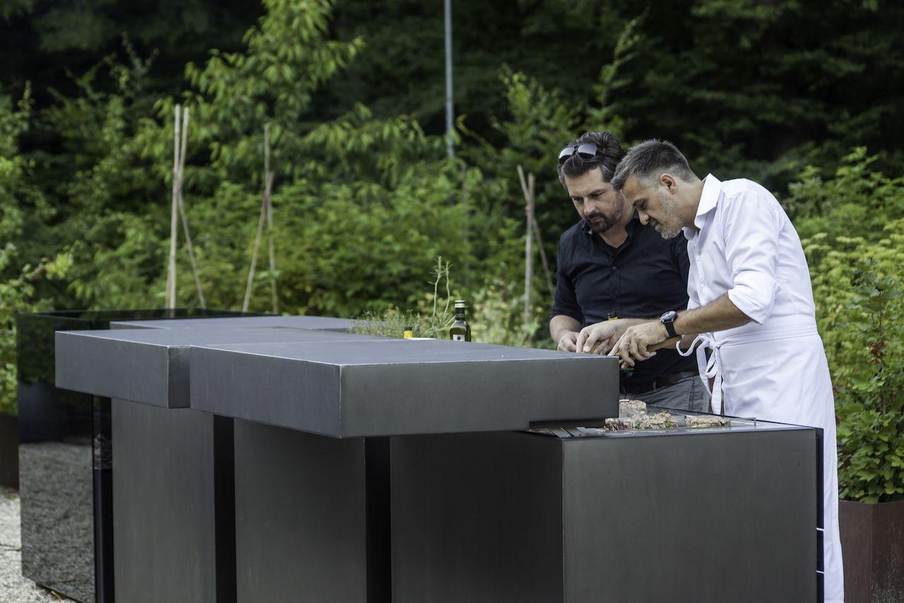 Steininger Outdoorküche : Outdoor küche steininger outdoor küche weiß aufsatz