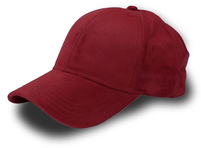 fbc52372 Fashion Faux Suede 6 Panel Adjustable Baseball Cap - Burgundy ...
