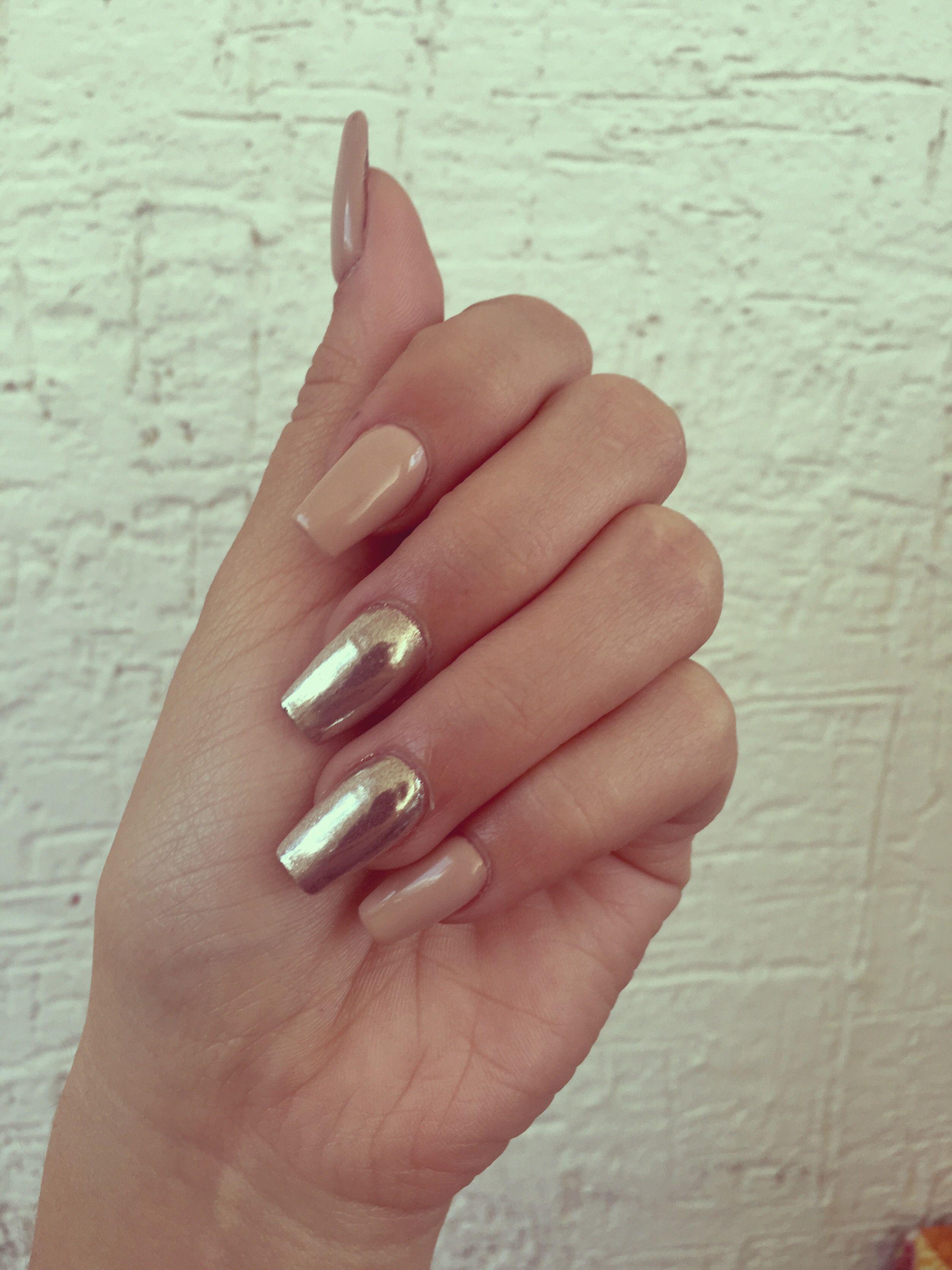 Efecto espejo | Nails | Pinterest | Diseños de uñas, Manicuras y Uña ...