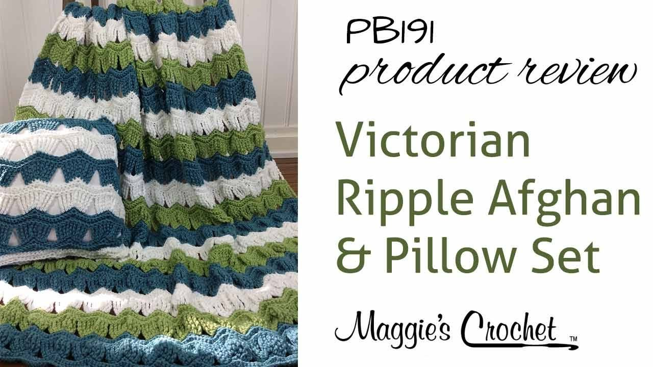 Victorian Ripple Afghan and Pillow Set Crochet Pattern Product ...