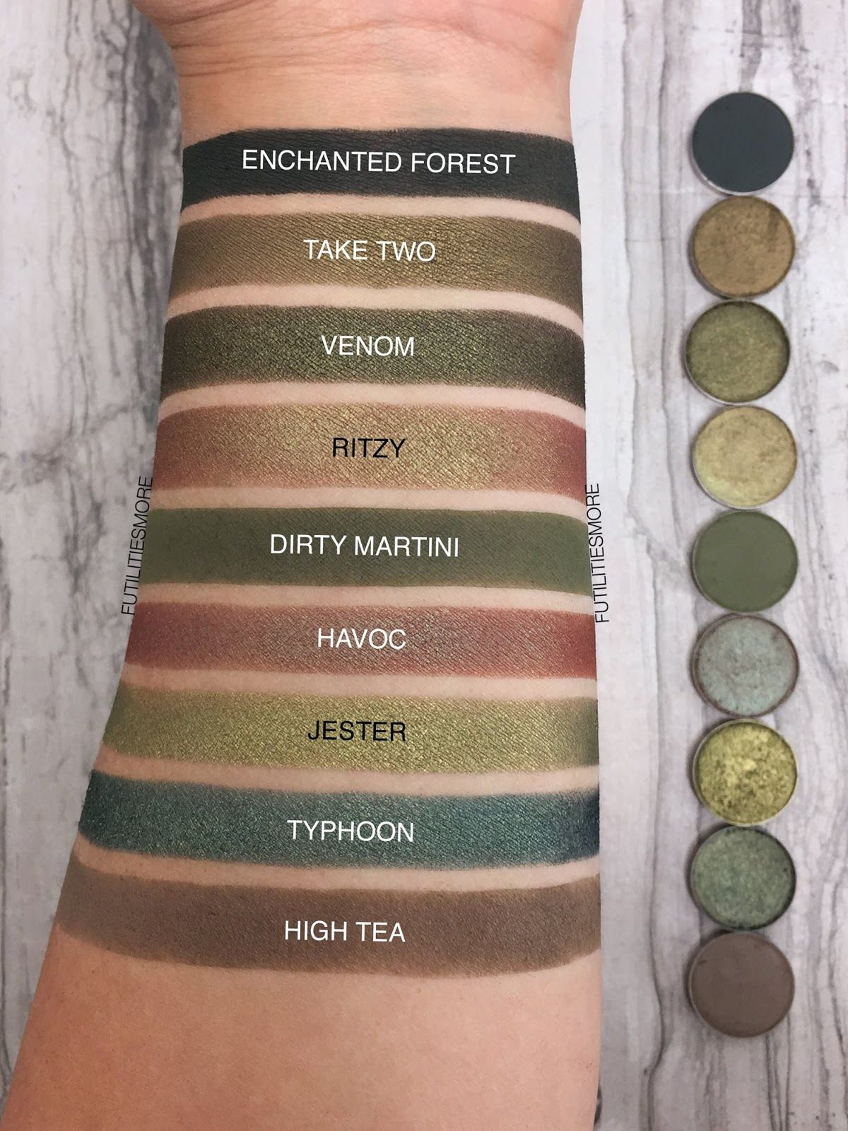 OLIVE GREEN EYESHADOWS BY MAKEUP GEEK COSMETICS Makeup