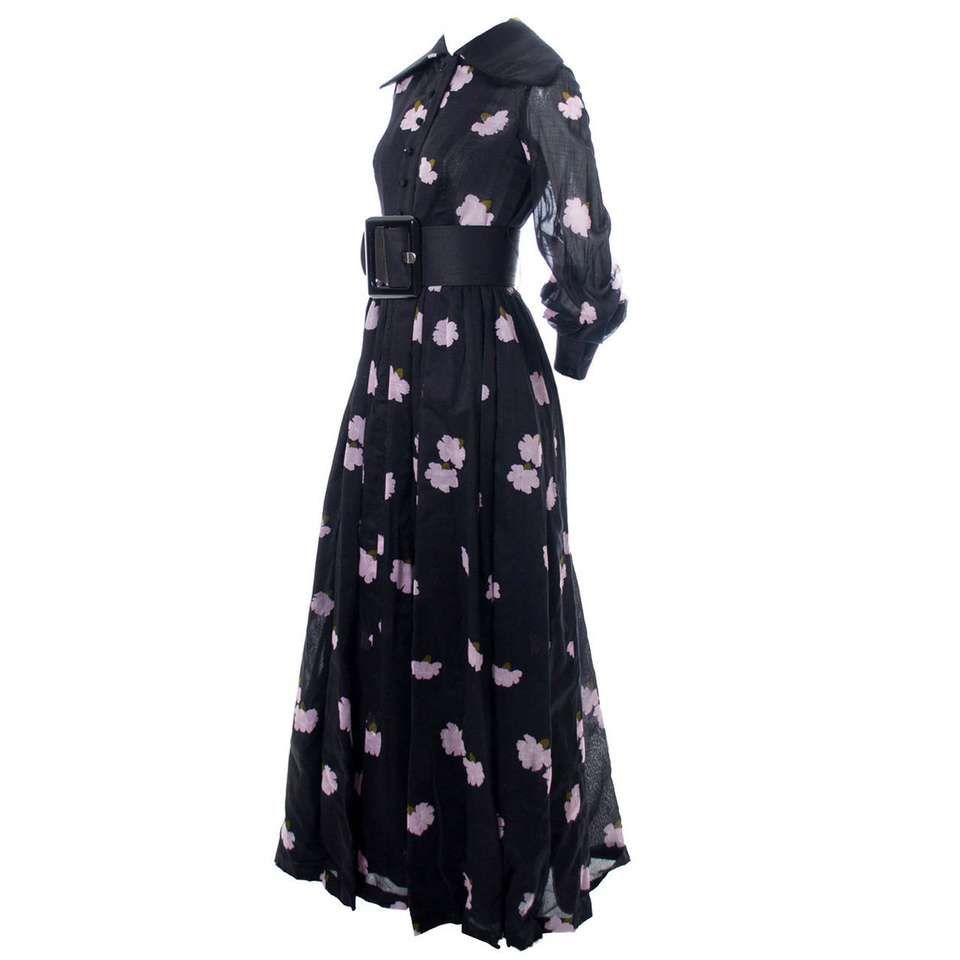1960s Geoffrey Beene Vintage Dress In Pink And Black