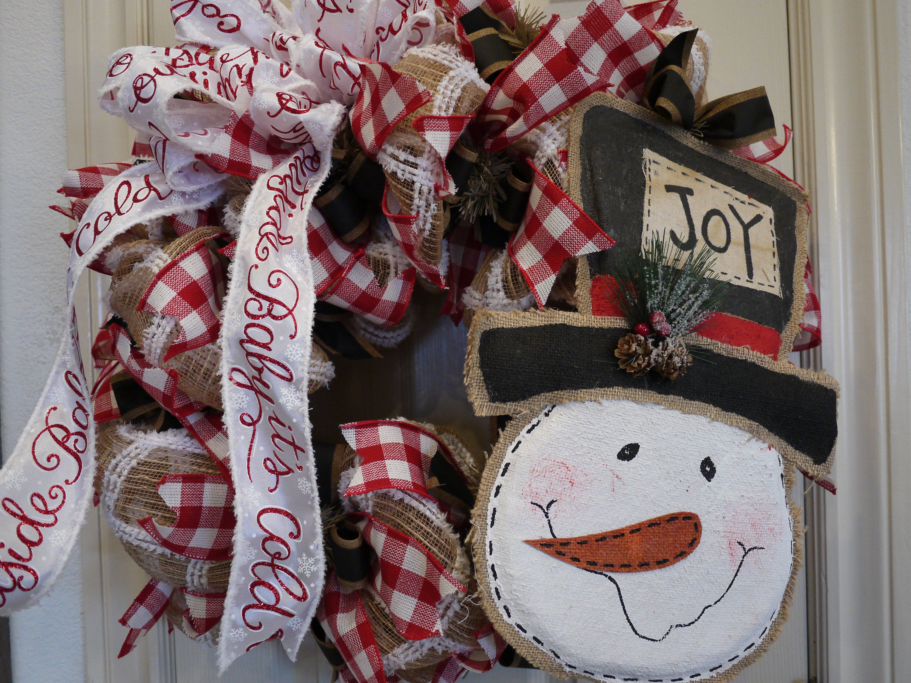 christmas decorations with burlap