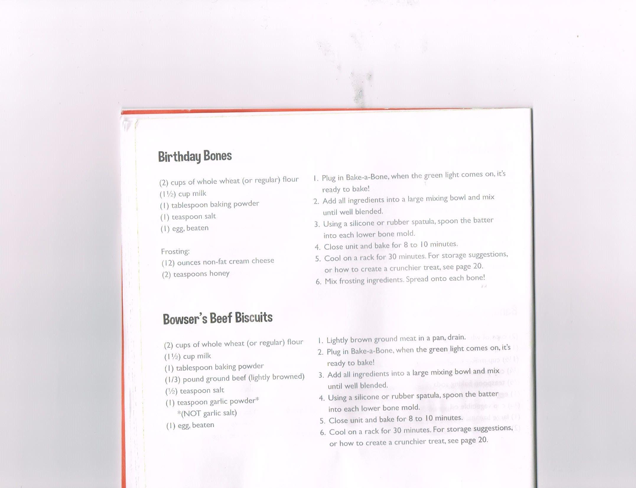 Birthday And Beef Bones Dog Treats Homemade Recipes Bake A Bone