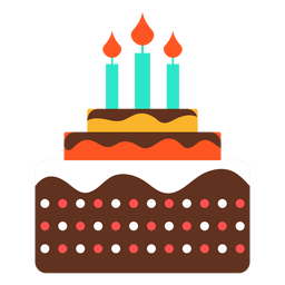 Pin By Jenny Gonzalez On Graphic Design Stock Cake Icon Birthday Cake With Candles Three Candles