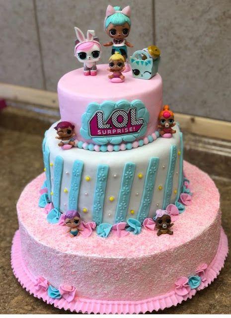 Bolo De Aniversario Lol Surprise Pastalar Vs Lol Bebekler