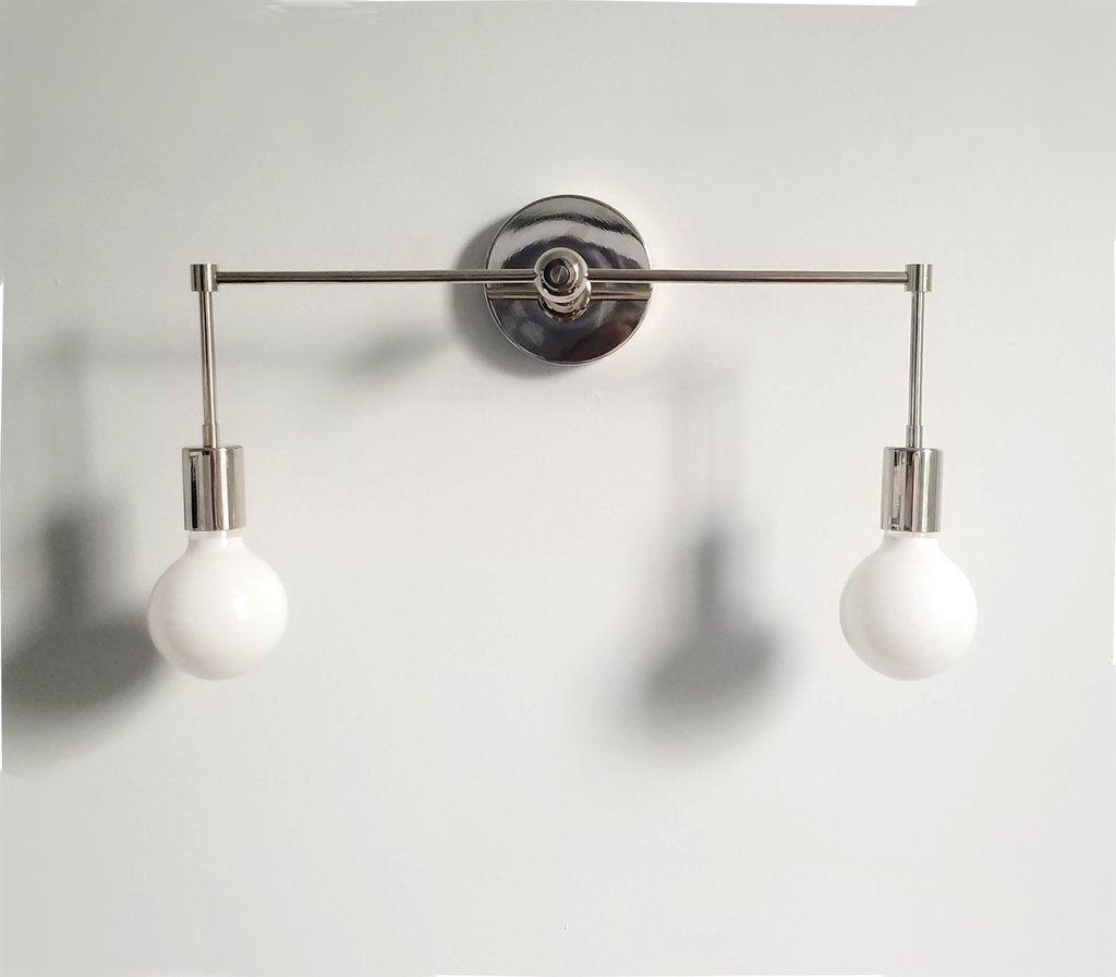 chrome wall sconce magazine lighting bathroom light ... on Decorative Wall Sconces Candle Holders Chrome Nickel id=31828