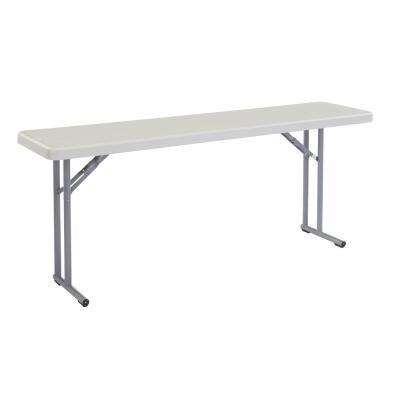 Lifetime Lifetime 4 Ft One Hand Adjustable Height Fold In Half Table Almond 80726 The Home Depot In 2020 Public Seating Folding Table Seating