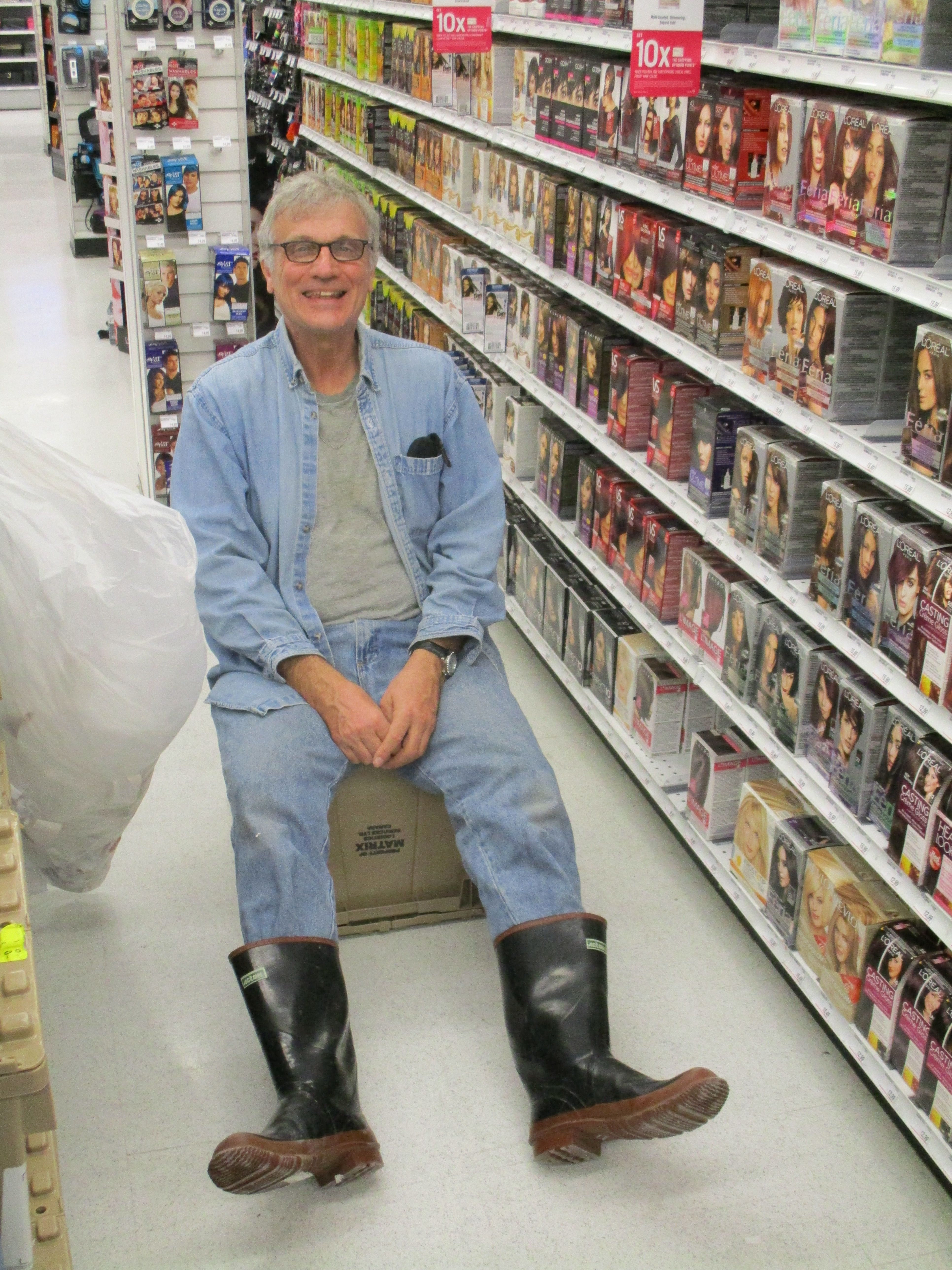 THE CANADIAN TUXEDO: the perfect working man's outfit [RUBBER BOOTS optional]