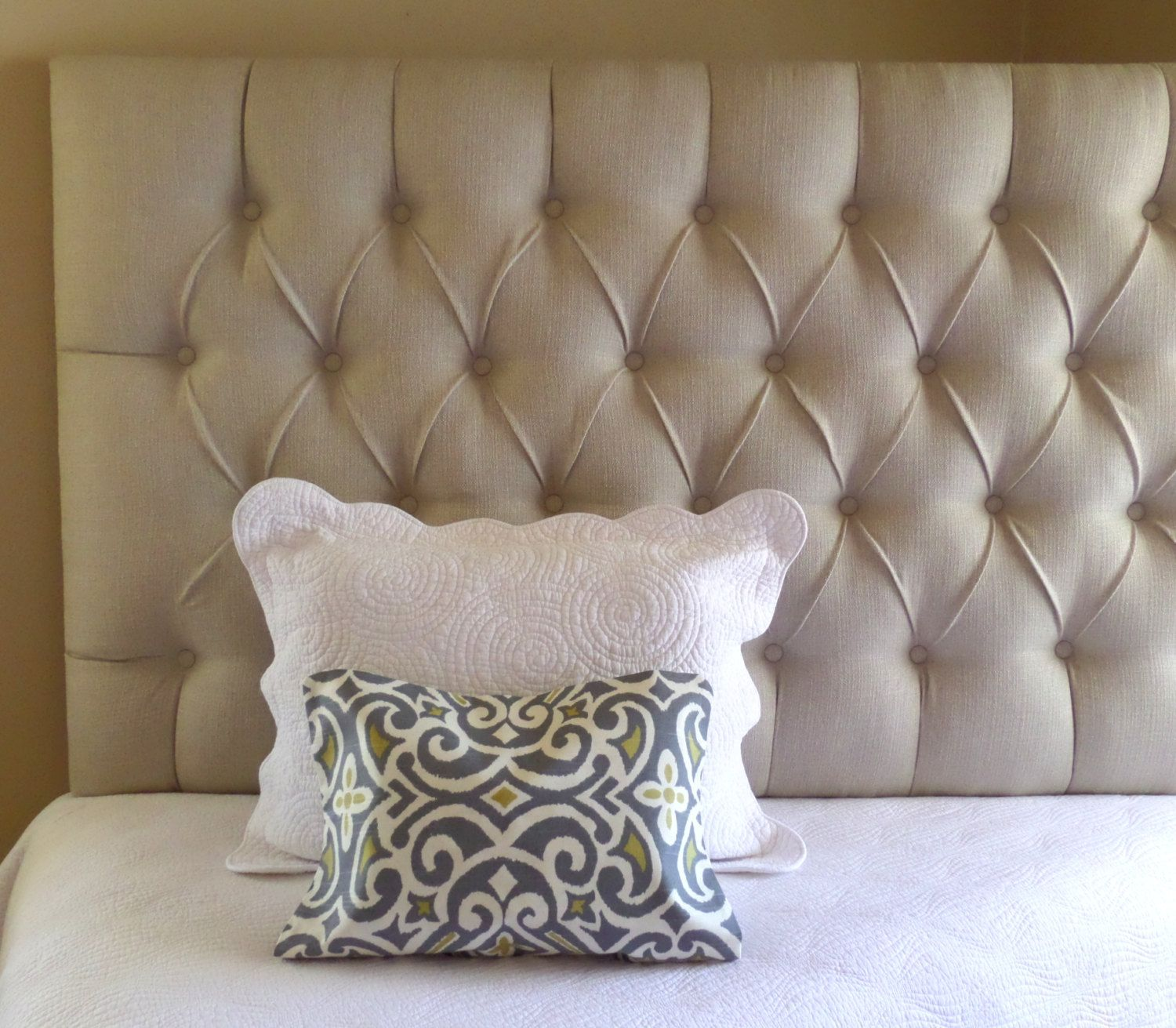 Custom Tufted Upholstered Headboard Wall Mounted Made To Order By Thetuftedfrog On Etsy