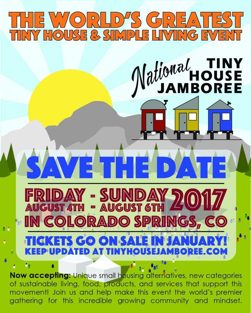 Nthj 2017 Save The Date Tiny House Jamboree Tiny House Tiny