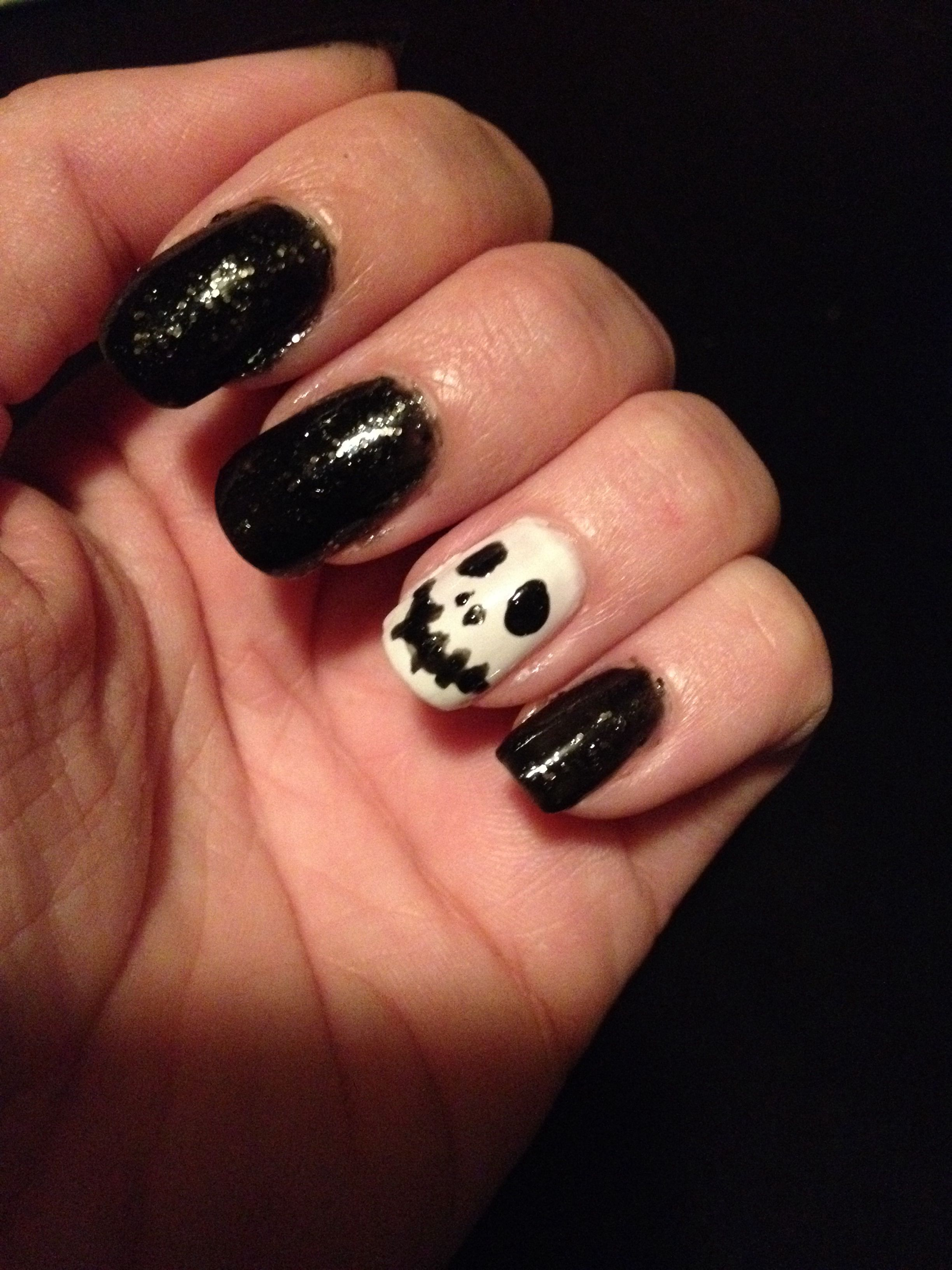 #Halloween fun with nail polish while catching up on Shark Tank. Then back to worky.