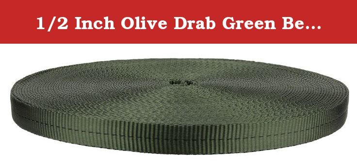 Country Brook Design® 1 Inch Dark Olive Drab Polypro Webbing 10 Yards