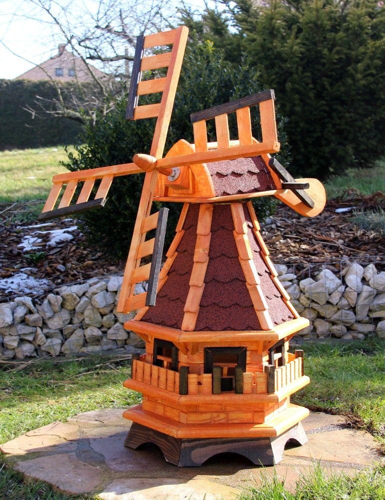 Holzwindmuhle Mit Solarbeleuchtung Typ 3 1 Rakuten Solarbeleuchtung Gartenwindmuhle Solar