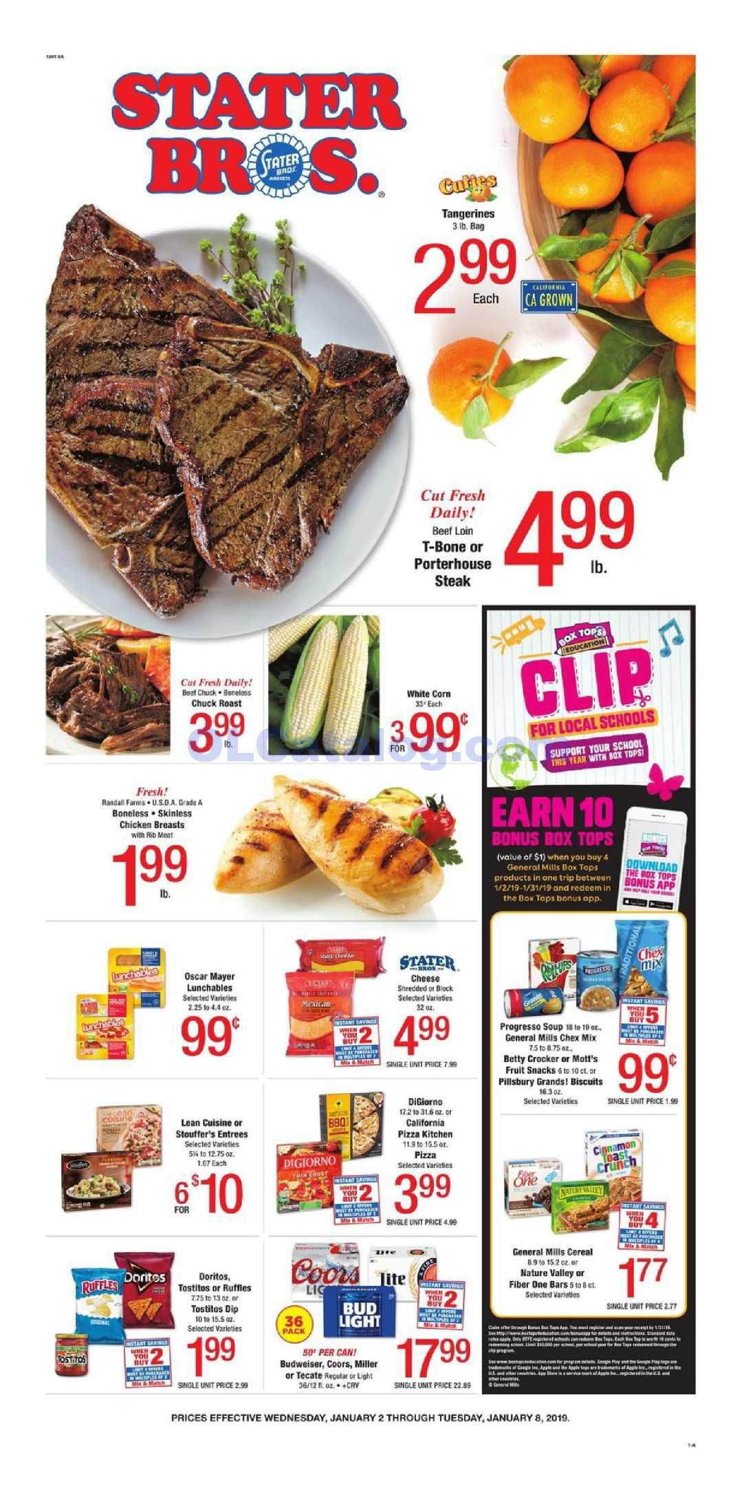 Stater Bros Weekly Ad January 2 8 2018 Comes Around Almost Every Week But Quite Often People See The Stater Brothers Ad A Weekly Ads Bakery Menu Fresh Meat