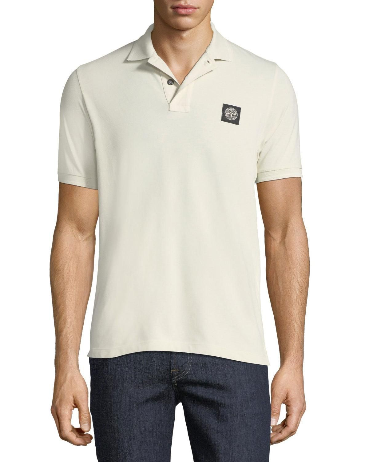 93091db3 STONE ISLAND PIQUÉ-KNIT POLO SHIRT. #stoneisland #cloth ...