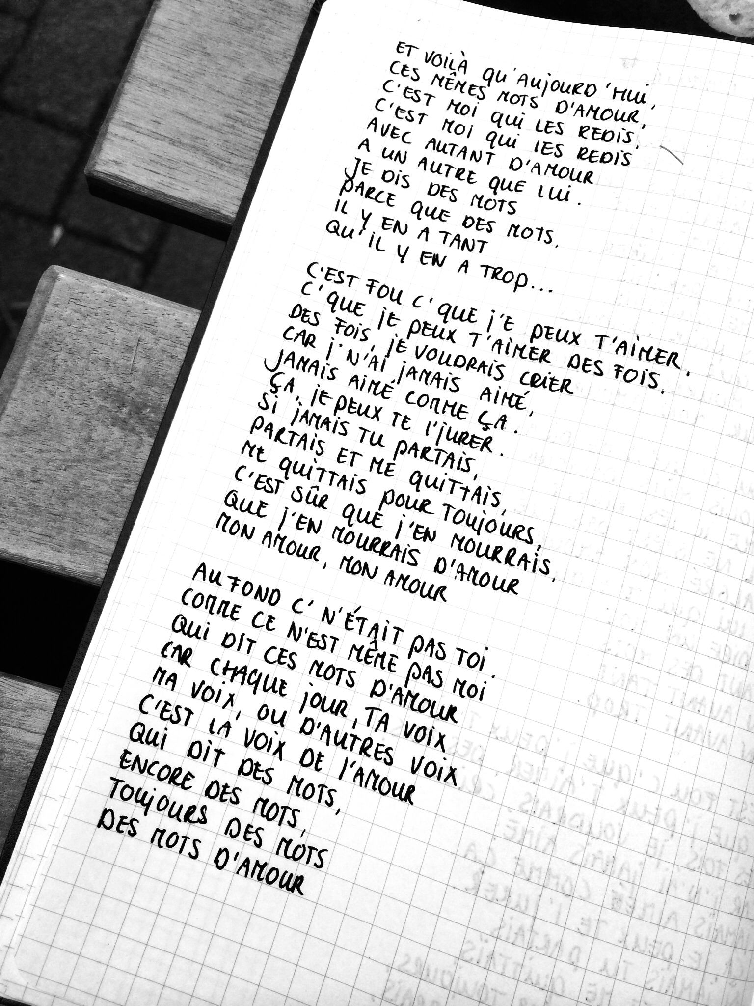 Les mots d'amour