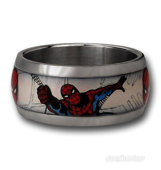 Spiderman webhead ring spiderman ring and spider man for Spider man wedding ring