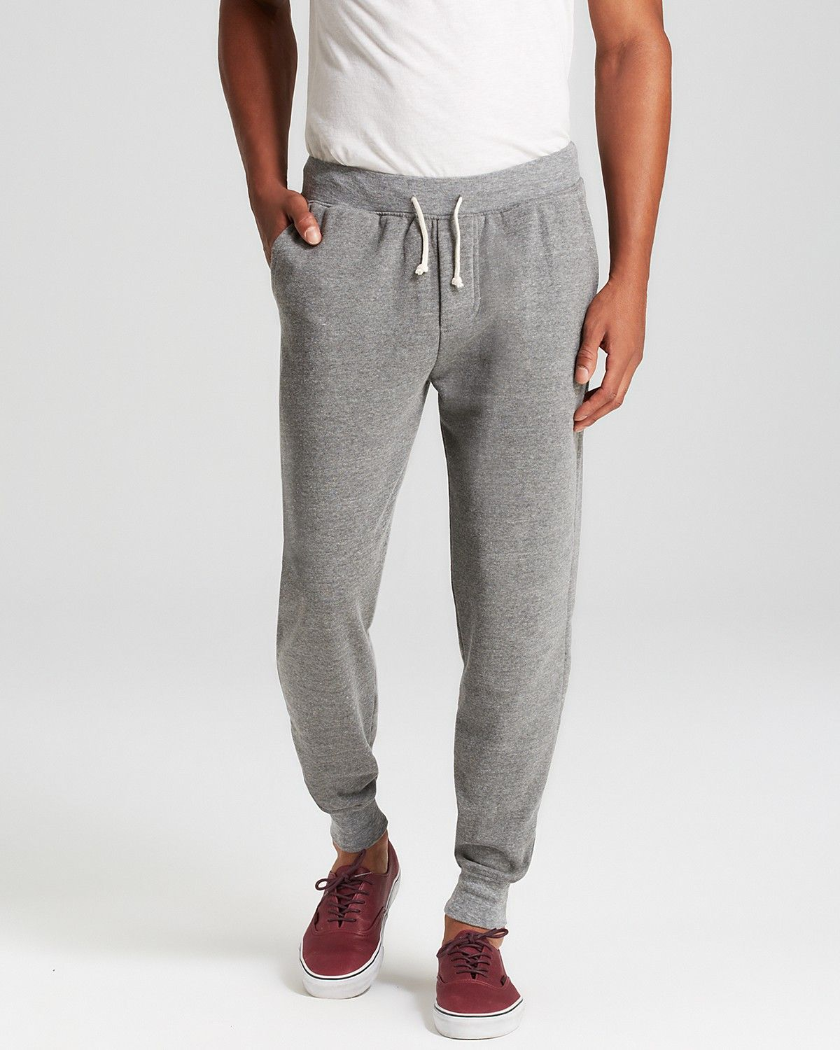 Alternative fleece jogger sweatpants in eco grey break a sweat