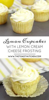 Lemons Cupcakes with Lemon Cream Cheese Buttercream Frosting  The Toasty Kitchen  Lemons Cupcakes with Lemon Cream Cheese Buttercream Frosting  The Toasty Kitchen