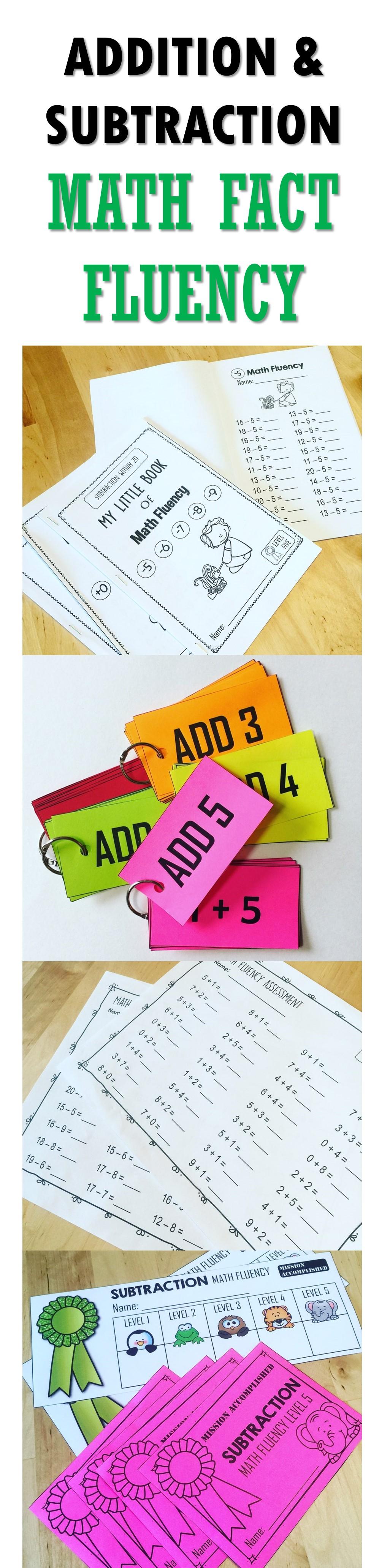 Addition Math Fact Fluency   Sticker chart, Math facts and Math