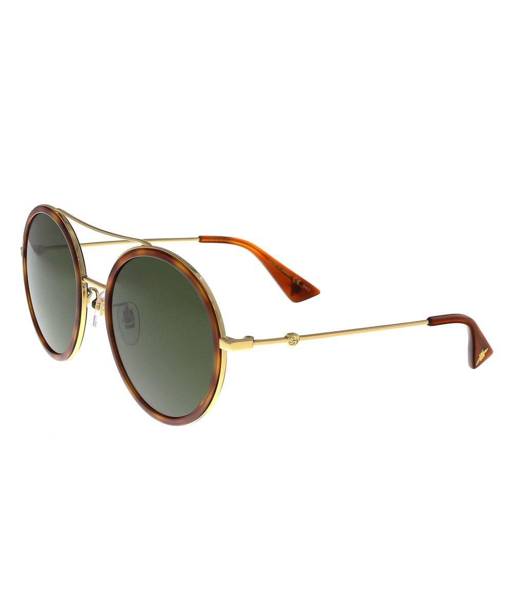bf485c00cd7 GUCCI Gg0061S 002 Havana Gold Round Sunglasses .  gucci  sunglasses ...