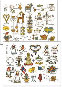 Norwegian Alphabet For Kit S Wall Alphabet Cards Christmas Scandinavian Style Scandanavian Christmas