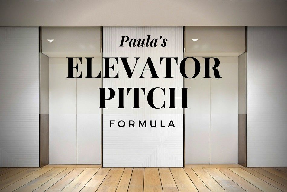 paula's elevator pitch formula  pitch writing author