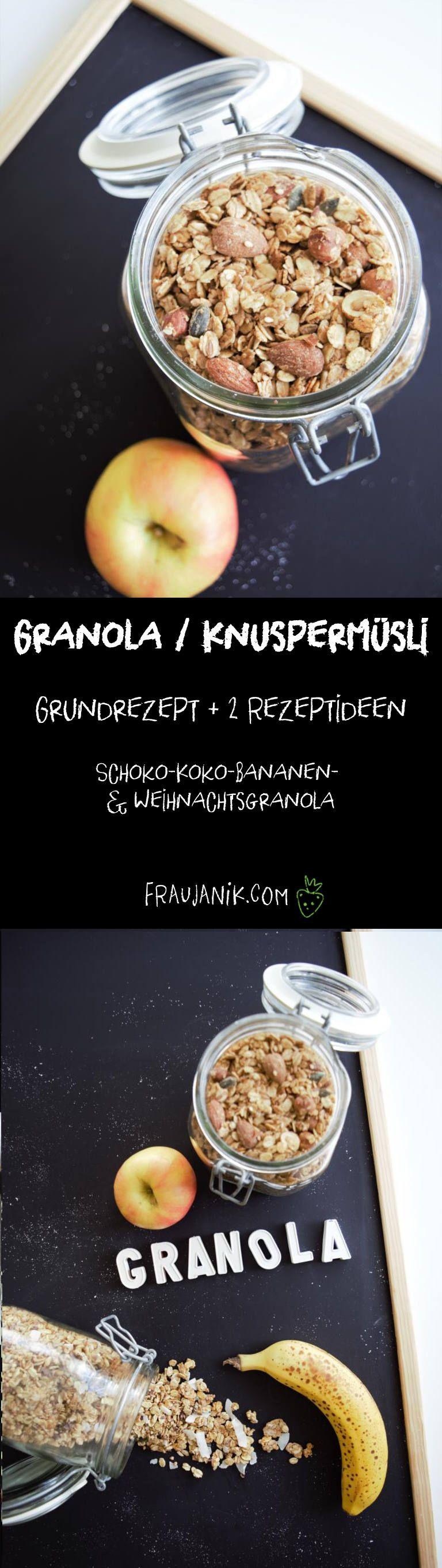 granola knusperm sli selber machen meine gesunden rezepte frau janik pinterest m sli. Black Bedroom Furniture Sets. Home Design Ideas