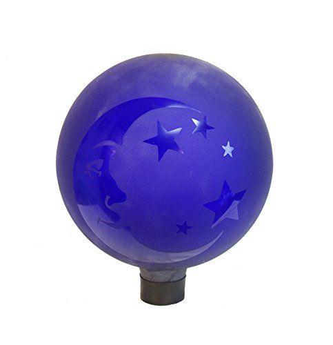 Etched Blue Moon Gazing Globe